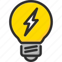 bulb, electric, electricity, energy, light, power, yellow