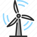 eco, energy, mill, nature, power, wind, windmill icon