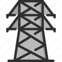 cable, electric, electricity, energy, power, tower, voltage icon