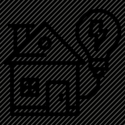 home electricity, house energy, power house, solar electricity, solar energy icon