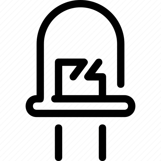 bulb, diode, led, light, lighting icon