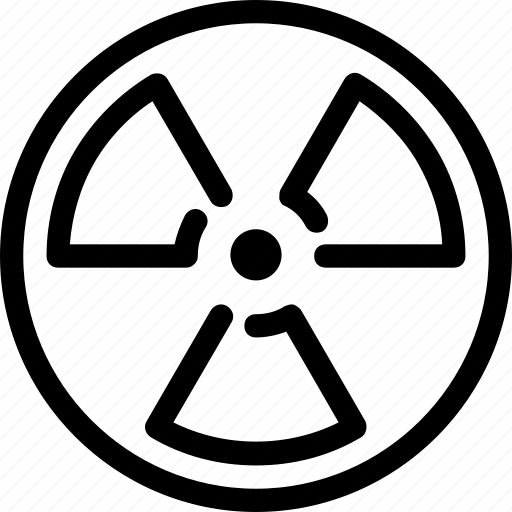 atomic, danger, nuclear, power, radiation, science icon