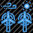 eco, ecology, energy, power, solar, wind icon