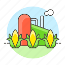 bioenergy, biological, corn, energy, green, maize, plant, renewable, sources, station icon