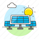 cell, day, energy, green, panel, photovoltaic, renewable, solar, sun, system, transducer, unit