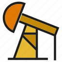 energy, fuel, gas, industry, oil, oil pump, petroleum icon