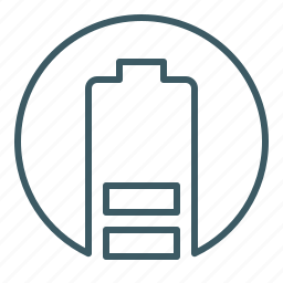 battery, cell, energy, level, power icon