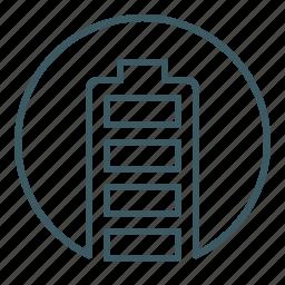battery, cell, energy, full, level, power icon