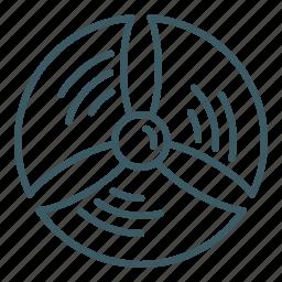 energy, propeller, turbine, wind icon