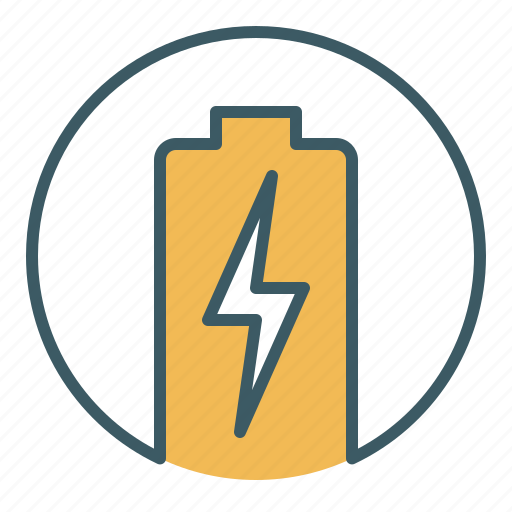 battery, charging, circle, energy, power icon