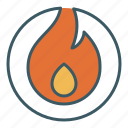 burn, energy, fire, flame, flammable, fuel, heat icon