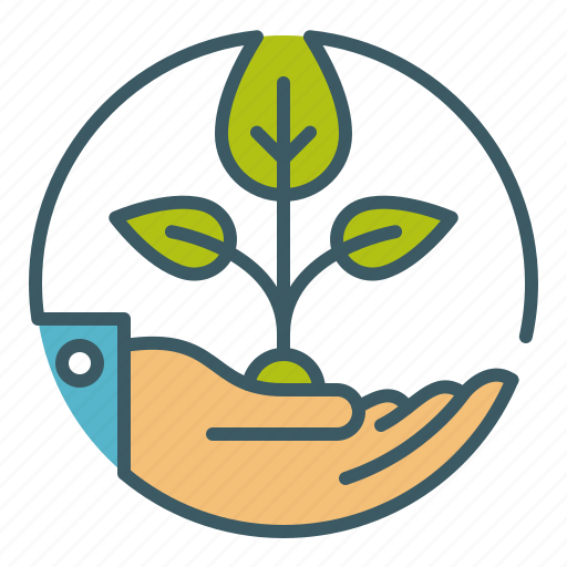 gardening, growth, hand, plant, seed, sprout, sustainable icon