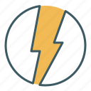 bolt, charge, electricity, energy, lightning, power, thunder icon