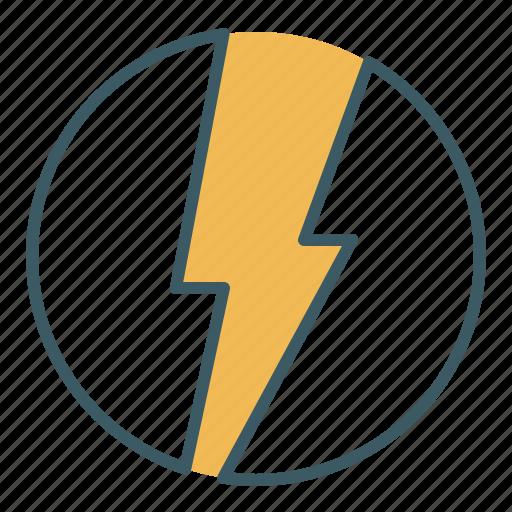 bolt, charge, electricity, energy, lightning, power, thunder icon