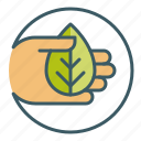give, hand, leaf, natural, offer, organic, product icon