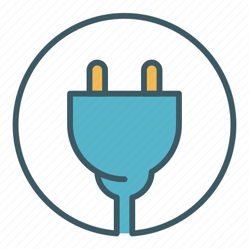 circle, cord, electricity, power, source icon