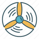 circle, energy, propeller, turbine, wind icon