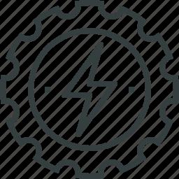 development, energy icon