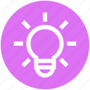 bulb, bulb light, creativity, electric, energy, idea, light icon