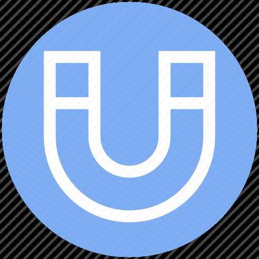 Electromagnetic, energy, horseshoe magnet, magnet, magnetism, metal, power icon - Download on Iconfinder