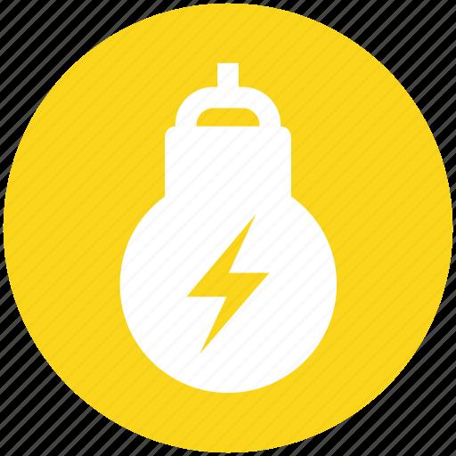 bulb, electricity, energy, idea, lamp, light, power icon