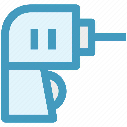 Drill, drill machine, electric, electricity, machine, power, power drill icon - Download on Iconfinder