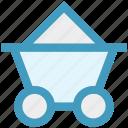 cart, coal cart, coal mine, coal mining, mine cart, mining process icon