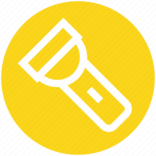 electric light, energy, flashlight, light, pocket torch, torch icon