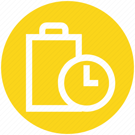 battery, charge, charging, clock, energy, level, power icon