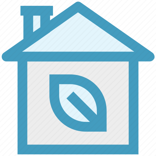Eco house, glasshouse, green house, house, leaf icon - Download on Iconfinder