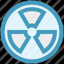 danger, energy, nuclear, power, radiation, radioactive, toxic icon