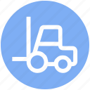 bendy truck, counterbalanced truck, fork truck, forklift truck, vehicle icon