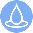 drop, droplet, oil drop, rain drop, water drop icon