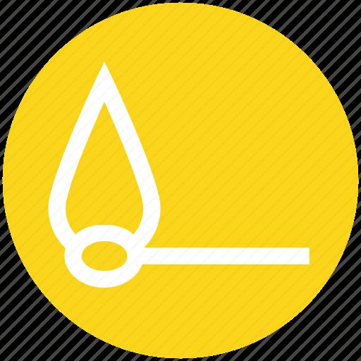 Burn, burn stick, fire, flame stick, matchstick icon - Download on Iconfinder