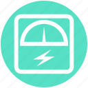analog device, electricity, gauge, gauge meter, meter, speedometer icon