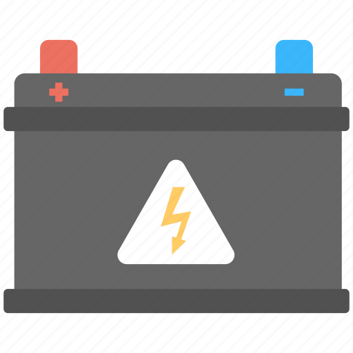 accumulator, auto battery, car battery, electrical cell, volts icon