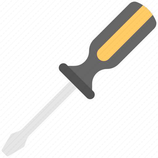 garage tool, hand instrument, repairing tool, screw key, screwdriver icon