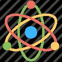 atom, atomic symbol, neutron system, nuclear model, nuclear symbol icon
