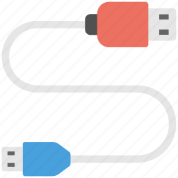 charger cable, computer accessory, data cable, mobile connector, usb cable icon
