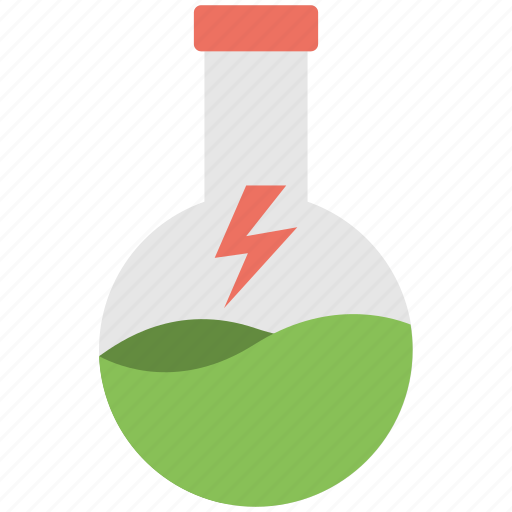 chemical flask, erlenmeyer flask, florence flask, science lab, volumetric flask icon