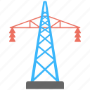 electric power pylon, electric pylon, electric tower, high voltage tower, transmission tower icon