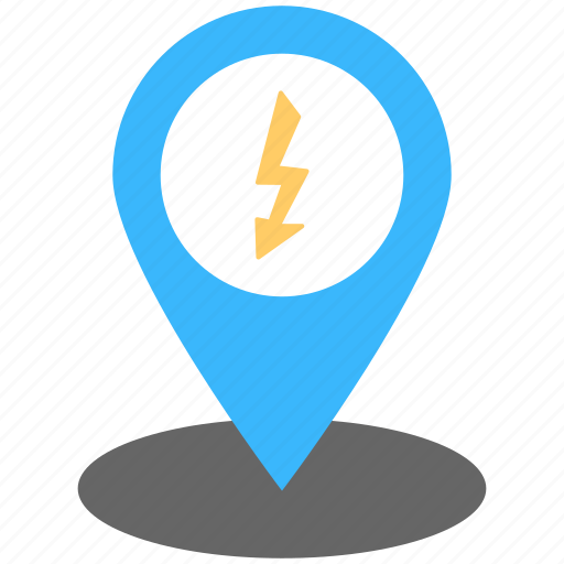 electric shock, energy location, power location, power place, power pointer icon
