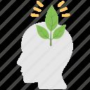 eco friendly, eco thinking, ecology, human idea, think green icon