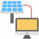 energy connection, energy source, solar energy, solar panel, solar system icon