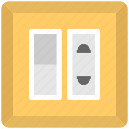 electric outlet, electricity, power socket, socket, wall socket icon