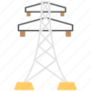 electric power pylon, electric pylon, electric tower, high voltage tower, power mast icon