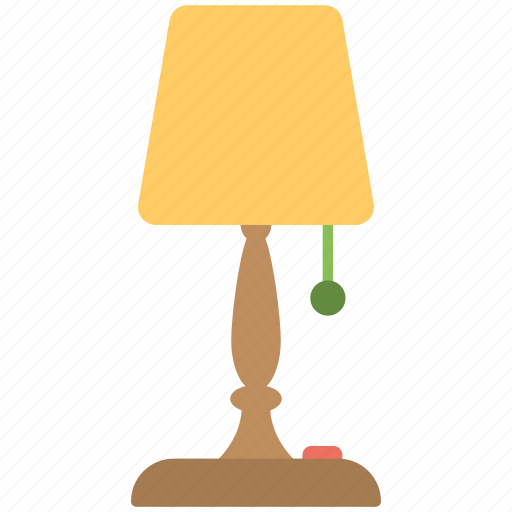 bed lamp, bedside lamp, night lamp, night light, table lamp icon