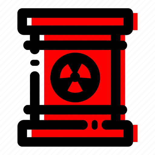 oil barrel, oil drum, radioactive drum icon icon