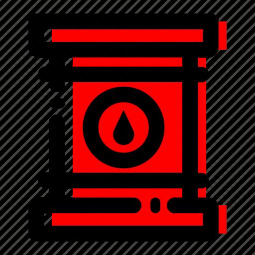 oil barrel, oil drum, radioactive drum icon icon