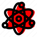 atom, chemistry, energy, nuclear power, power icon icon